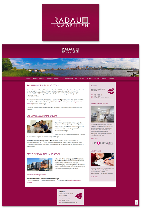 Radau Immobilien Website